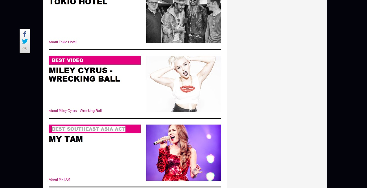 Mỹ Tâm lọt top winners cuối cùng của giải MTV EMA 2013 - Ảnh 1