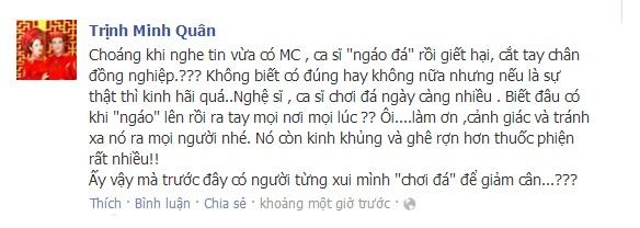 """Facebook sao 24h: Minh Quân choáng vì đồng nghiệp """"ngáo đá"""" giết người yêu - Ảnh 1"""