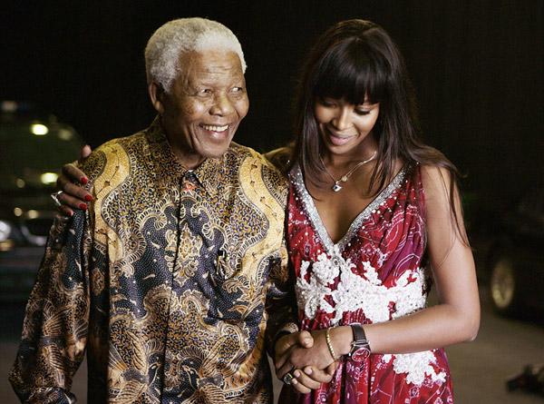 Hình ảnh tổng thống Nelson Mandela thân thiết bên sao Hollywood - Ảnh 6