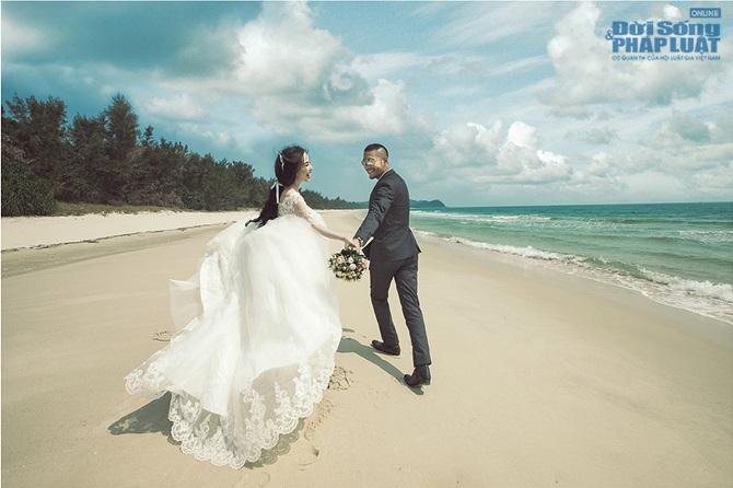 Doãn Tuấn - Quỳnh Nga tung ảnh cưới lãng mạn trên biển - Ảnh 1