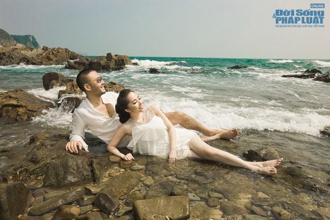Doãn Tuấn - Quỳnh Nga tung ảnh cưới lãng mạn trên biển - Ảnh 10