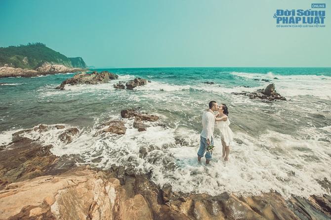 Doãn Tuấn - Quỳnh Nga tung ảnh cưới lãng mạn trên biển - Ảnh 11