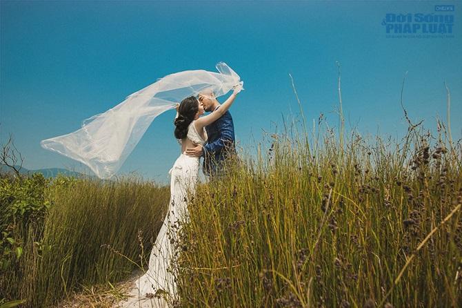 Doãn Tuấn - Quỳnh Nga tung ảnh cưới lãng mạn trên biển - Ảnh 2