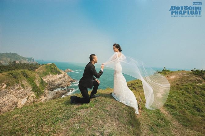 Doãn Tuấn - Quỳnh Nga tung ảnh cưới lãng mạn trên biển - Ảnh 4