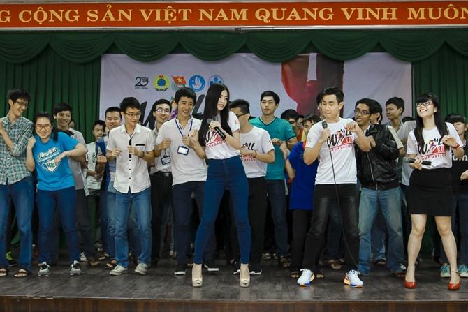 Á hậu Diễm Trang cùng Nguyên Khang truyền đam mê cho giới trẻ - Ảnh 8