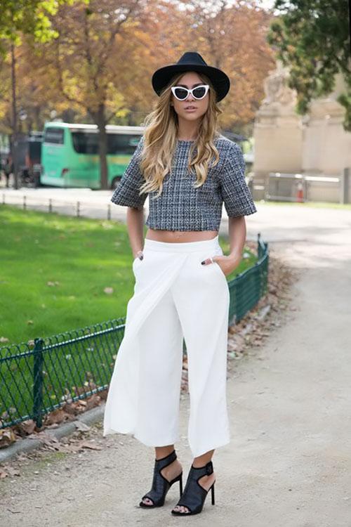 Quần ngố ống rộng - xu hướng thời trang nổi bật hè 2014 - Ảnh 4