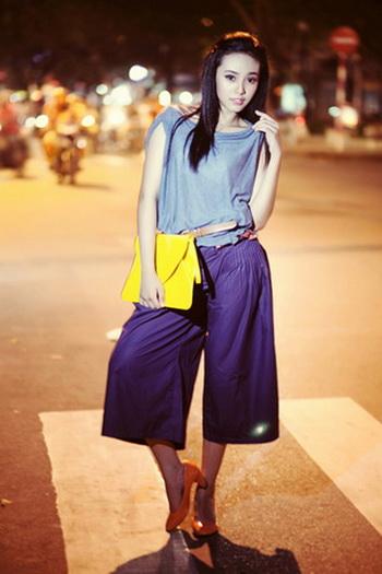 Quần ngố ống rộng - xu hướng thời trang nổi bật hè 2014 - Ảnh 12