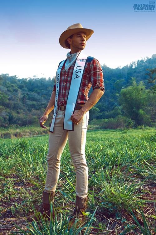 Hữu Vi nổi bật với trang phục dân tộc tại Mister Global 2014 - Ảnh 5