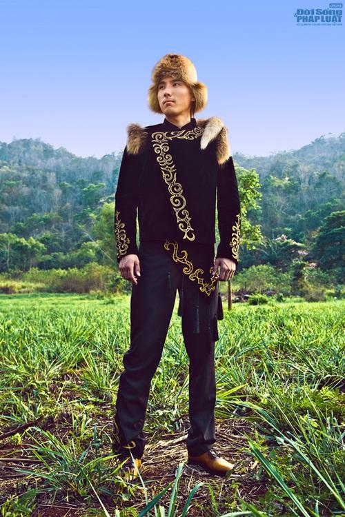 Hữu Vi nổi bật với trang phục dân tộc tại Mister Global 2014 - Ảnh 7