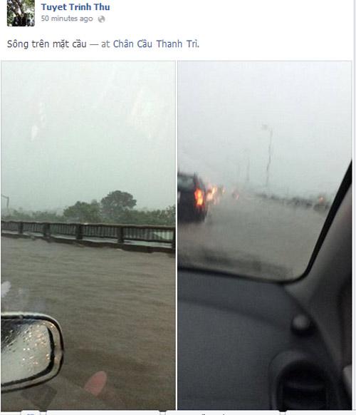 """Hình ảnh """"Hà Nội phố cũng như sông"""" ngập tràn facebook - Ảnh 3"""