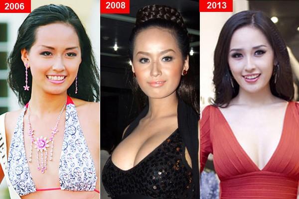 Mỹ nhân Việt trước và sau nghi án nâng ngực - Ảnh 1