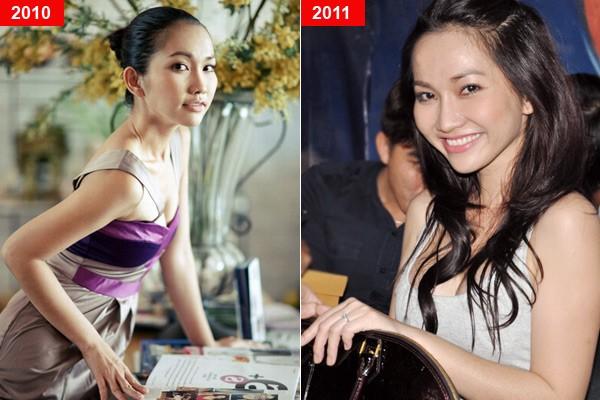 Mỹ nhân Việt trước và sau nghi án nâng ngực - Ảnh 2