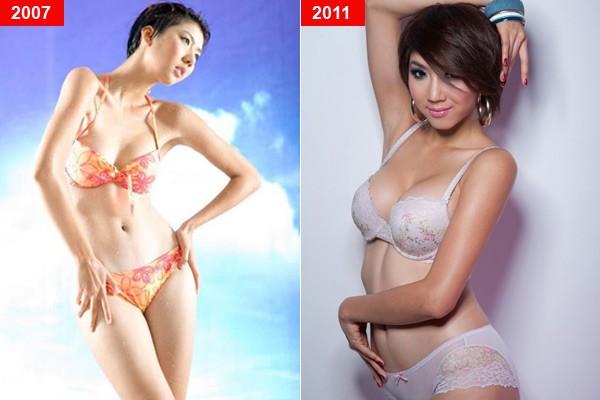 Mỹ nhân Việt trước và sau nghi án nâng ngực - Ảnh 3