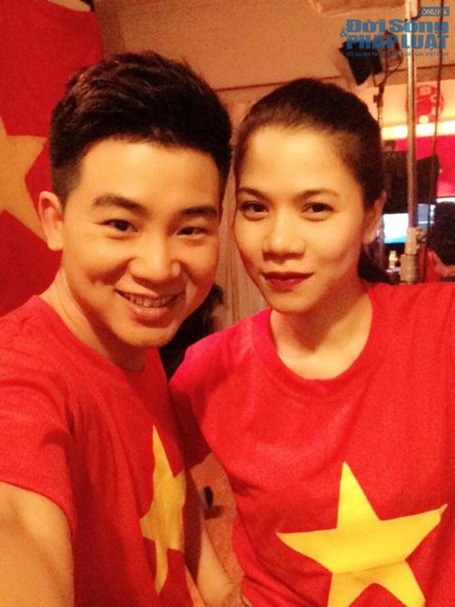 Sao Việt mặc áo in cờ đỏ sao vàng thể hiện lòng yêu nước - Ảnh 8