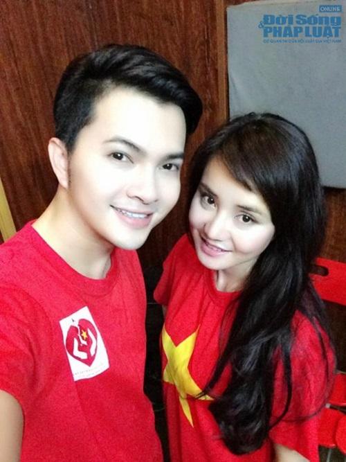 Sao Việt mặc áo in cờ đỏ sao vàng thể hiện lòng yêu nước - Ảnh 6