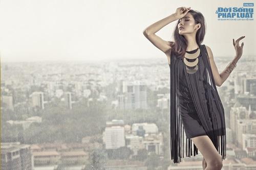 Hoàng Thùy cá tính mà gợi cảm với thời trang Kate Moss - Ảnh 3