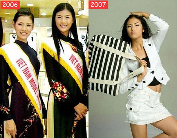 3 hoa hậu Việt lột xác từ đen nhẻm sang trắng sứ - Ảnh 2