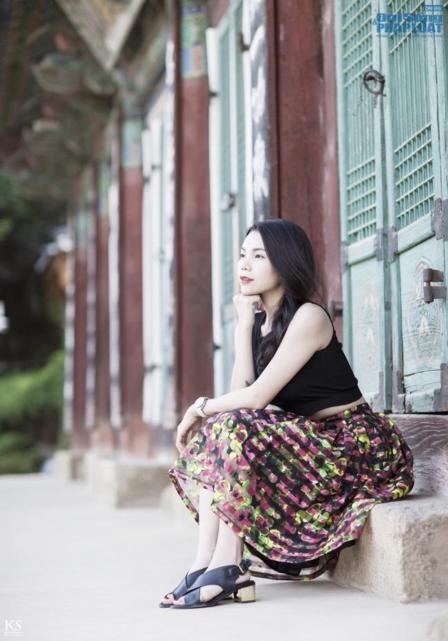 Trà Ngọc Hằng gợi cảm trên phố Seoul - Ảnh 3