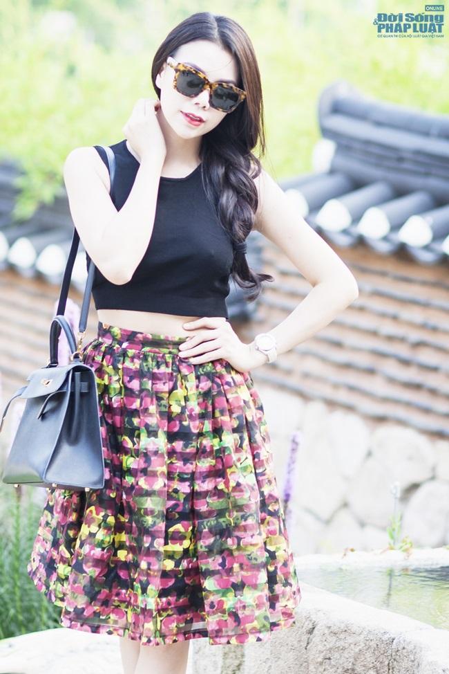 Trà Ngọc Hằng gợi cảm trên phố Seoul - Ảnh 6