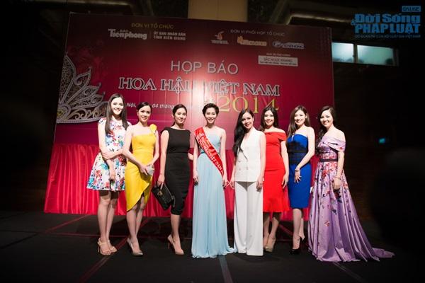 Dàn Hoa hậu, Á hậu hội ngộ trong họp báo Hoa hậu Việt Nam 2014 - Ảnh 15