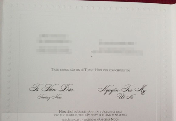 Lộ thiệp cưới Trà My Idol kết hôn với bạn trai ngày 14/6 - Ảnh 4