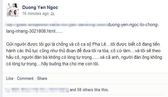 Người cướp chồng Dương Yến Ngọc là ca sĩ Pha Lê? - Ảnh 2