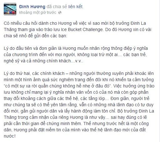 Clip Đinh Hương thách Bộ trưởng Đinh La Thăng dội nước đá lên đầu - Ảnh 2