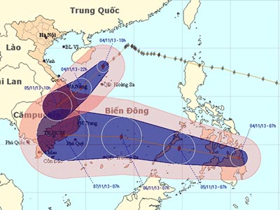 Thời tiết nguy hiểm đe dọa các tỉnh miền Trung và Nam bộ - Ảnh 1