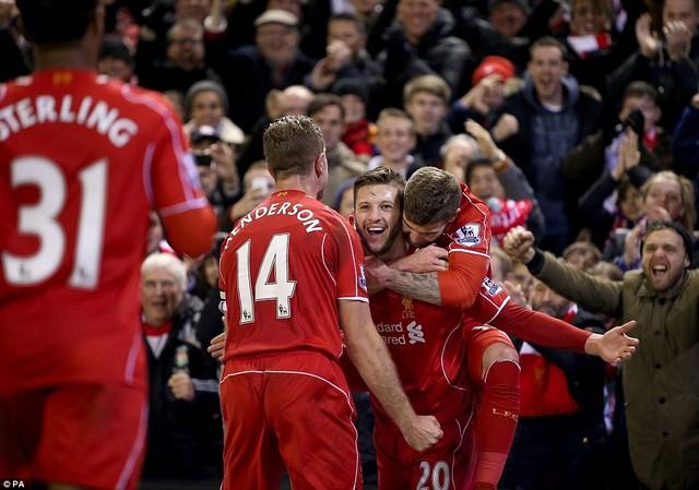 Lallana rực sáng, Liverpool nhấn chìm Swansea - Ảnh 1