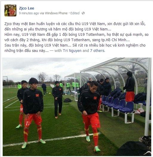 Thua tan nát 0-9, U19 Việt Nam xin lỗi fan hâm mộ - Ảnh 1