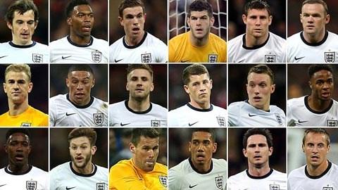Tuyển Anh chốt danh sách dự World Cup 2014: M.U áp đảo - Ảnh 1