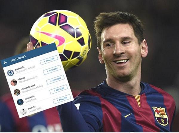 Messi theo dõi tài khoản của Chelsea - Ảnh 1