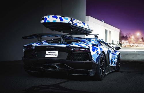 "Cận cảnh Lamborghini Aventardor ""tuyết"" cực hiếm - Ảnh 4"