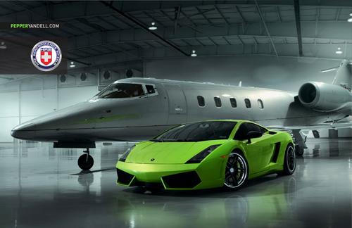 Bộ ảnh cực độc Lamborghini Gallardo khoe dáng cùng phi cơ - Ảnh 1