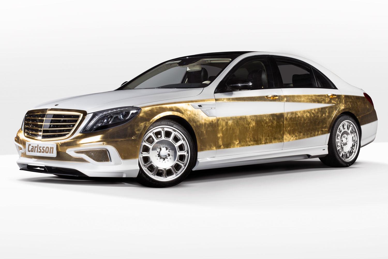 """Bản độ 1000 miếng vàng lá """"dát"""" lên Mercedes-Benz S-Class - Ảnh 1"""