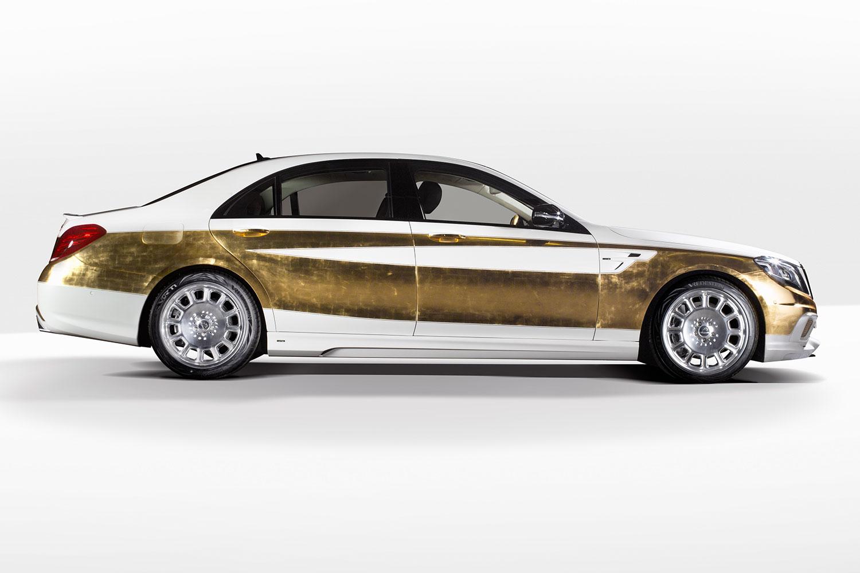 """Bản độ 1000 miếng vàng lá """"dát"""" lên Mercedes-Benz S-Class - Ảnh 2"""