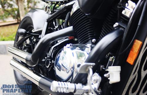 Honda Shadow độ Bobber cực ngầu của dân chơi Hà thành - Ảnh 7