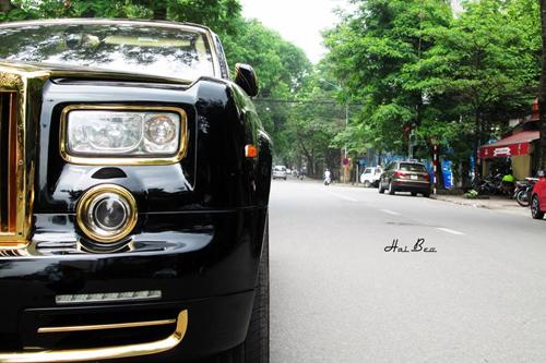Rolls-Royce Phantom mạ vàng, chạm rồng thời Lý trên phố Hà thành - Ảnh 5
