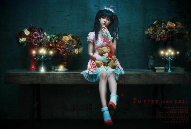 """Halloween 2014: Hot girl Kiều Trinh hóa """"ma nữ"""" xinh đẹp - Ảnh 5"""