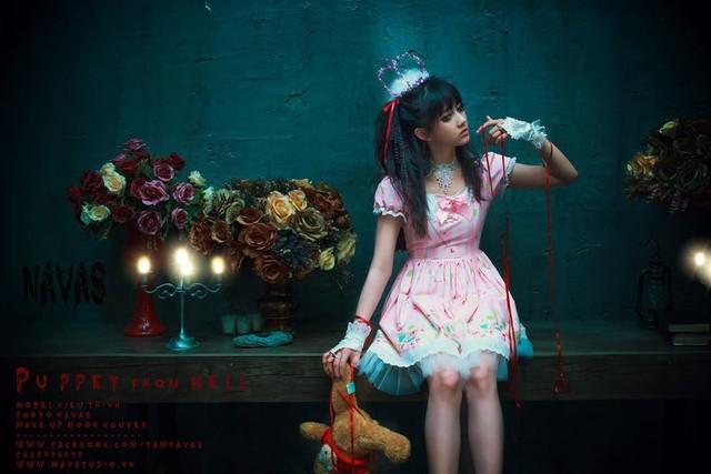 """Halloween 2014: Hot girl Kiều Trinh hóa """"ma nữ"""" xinh đẹp - Ảnh 7"""