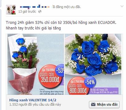 Quà độc Valentine: Hoa hồng xanh giá gần 2 triệu gây tranh cãi - Ảnh 2