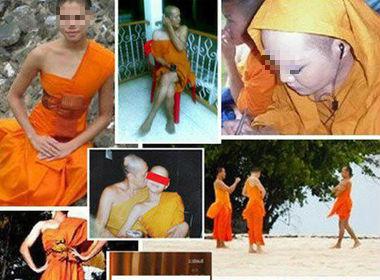 """Sốc nặng với hình ảnh nhà sư Thái Lan """"ôm hôn, uống rượu"""" - Ảnh 1"""