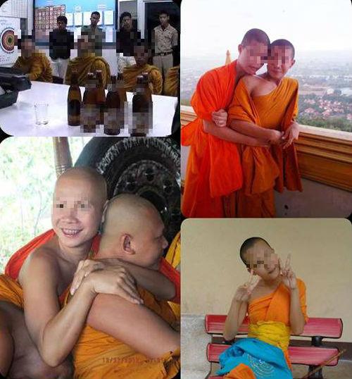 """Sốc nặng với hình ảnh nhà sư Thái Lan """"ôm hôn, uống rượu"""" - Ảnh 2"""