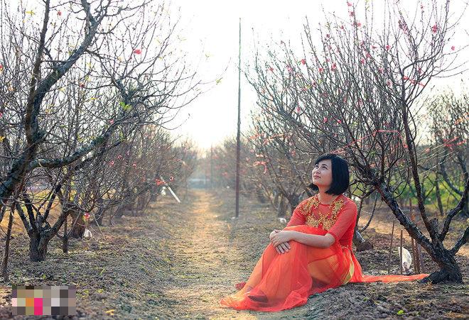 """Ngất ngây thiếu nữ Hà thành """"đọ sắc"""" bên vườn đào Nhật Tân - Ảnh 11"""