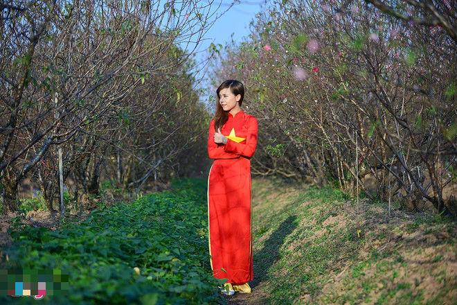 """Ngất ngây thiếu nữ Hà thành """"đọ sắc"""" bên vườn đào Nhật Tân - Ảnh 12"""