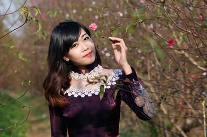 """Ngất ngây thiếu nữ Hà thành """"đọ sắc"""" bên vườn đào Nhật Tân - Ảnh 7"""