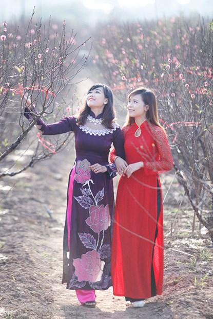 """Ngất ngây thiếu nữ Hà thành """"đọ sắc"""" bên vườn đào Nhật Tân - Ảnh 8"""