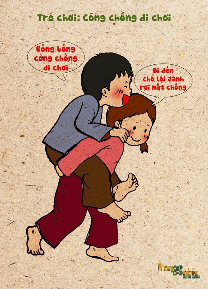 Bộ tranh gợi nhớ trò chơi tuổi thơ gây xúc động - Ảnh 1