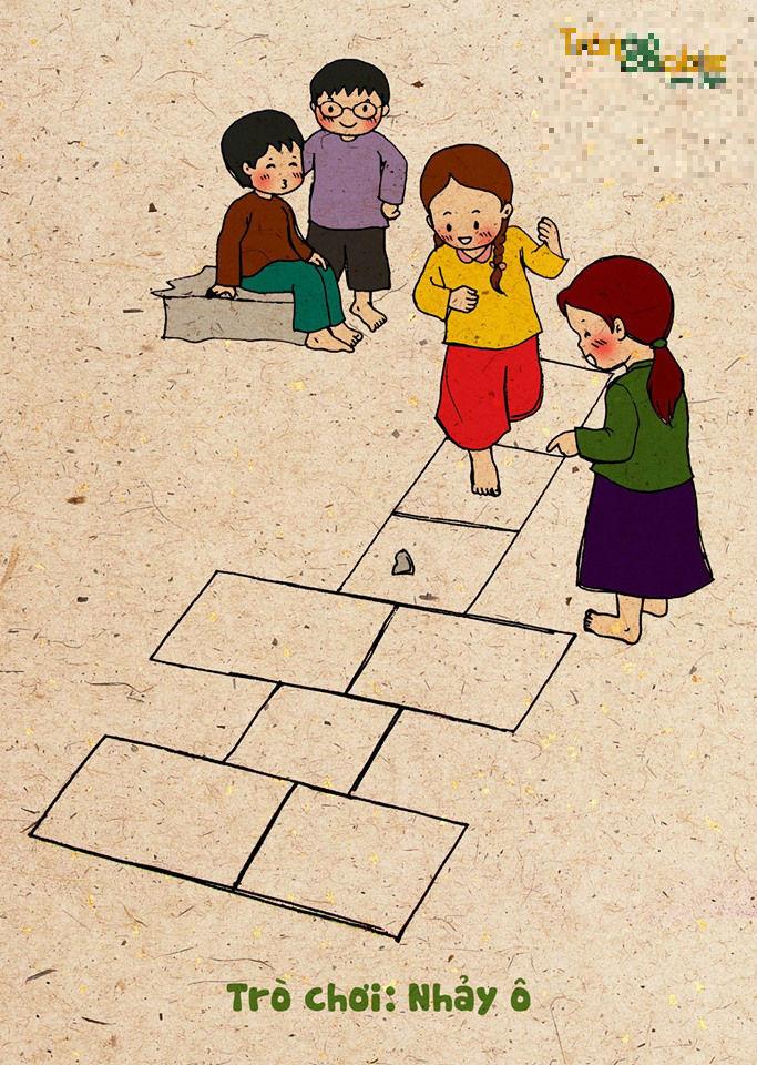 Bộ tranh gợi nhớ trò chơi tuổi thơ gây xúc động - Ảnh 4