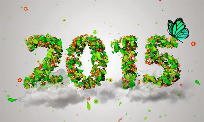 Những mẫu thiệp chúc mừng năm mới 2015 đẹp và ý nghĩa nhất - Ảnh 1